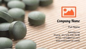 Organic Spirulina Tablets Business Card Template