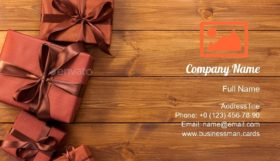 Presents in Gift Boxes Business Card Template
