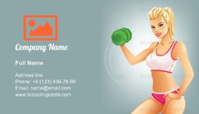 Slim Fit Woman Business Card Template