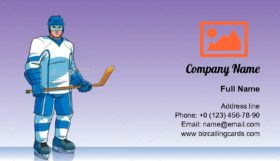 Hockey Player Business Card Template