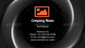 Abstract Radial Light Business Card Template
