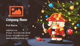 Character of Nutcracker Business Card Template