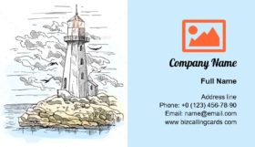 Lighthouse Building Business Card Template