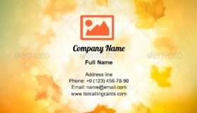 Autumn abstract Illustration Business Card Template