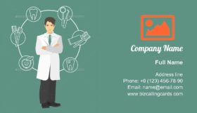 Doctor dentist in full growth Business Card Template