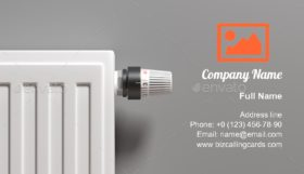 Radiator with thermostat Business Card Template