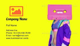 Fashion Retro Cassette Business Card Template