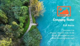 Aerial view of a river Business Card Template