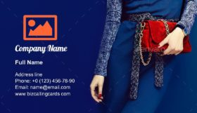 Portrait glamorous lady Business Card Template