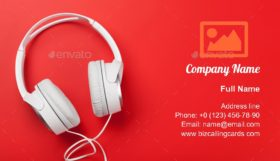 Music headphones Business Card Template