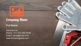 Interior Finish Tools Business Card Template