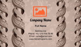 Vintage beautiful columns Business Card Template