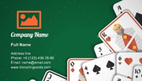 Games playing cards Business Card Template