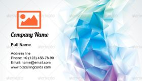 Abstract polygonal crystal Business Card Template