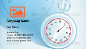 Stopwatches Composition Business Card Template