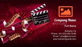 Cinema Producers Clapperboard Business Card Template