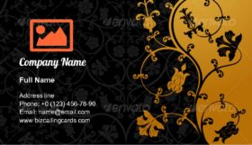 Abstract blossom floral Business Card Template