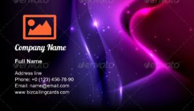Dark Purple Abstract Business Card Template