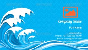 Surf wave Graphic Business Card Template