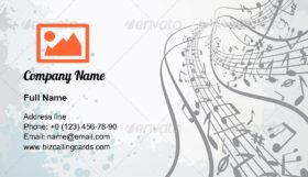 Abstract Musical Theme Business Card Template