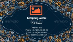 Social Media Cloud Business Card Template