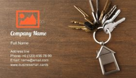 Bunch of House Keys Business Card Template