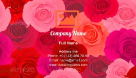Rose Seamless Pattern Business Card Template