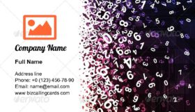 Modern number chaos Business Card Template