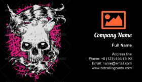 Illustration of skull Business Card Template