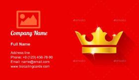 Gold crow flat style Business Card Template