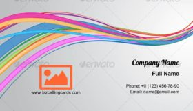 Abstract curvy lines Business Card Template