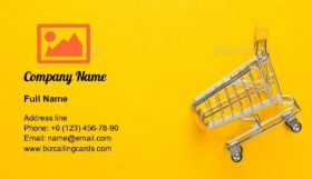 Shopping Trolley Business Card Template
