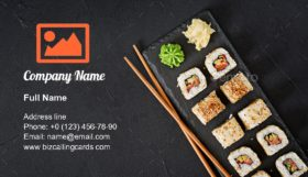 Traditional Japanese food Business Card Template