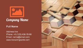 Stack of parquet Business Card Template