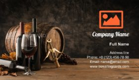 Traditional winemaking Business Card Template