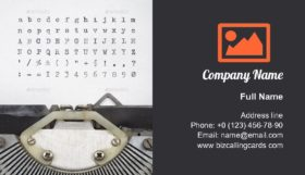 Old typewriter letters Business Card Template