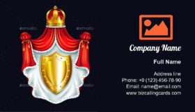 Emblem of Royal Family Business Card Template