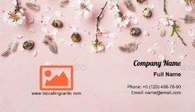 Easter with eggs Business Card Template
