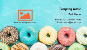 Assorted Colorful donuts Business Card Template