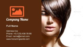 Fashion trendy hair style Business Card Template