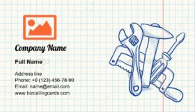 Maintenance Tools Drawing Business Card Template
