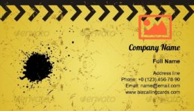 Grunge yellow industry Business Card Template