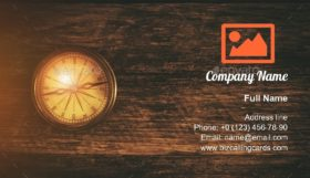 Vintage Compass Business Card Template