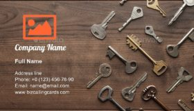 Many Different Keys Business Card Template