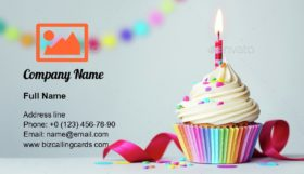 Birthday cupcake Business Card Template