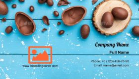 Chocolate Easter bunny Business Card Template