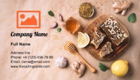 Ingredients for healthy hot drink Business Card Template