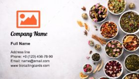 Assortment of dry tea Business Card Template