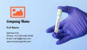 Covid-19 sample Business Card Template