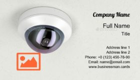 Surveillance Camera Business Card Template